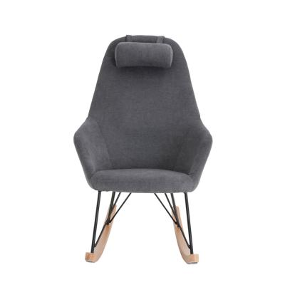 Rocking-chair gris